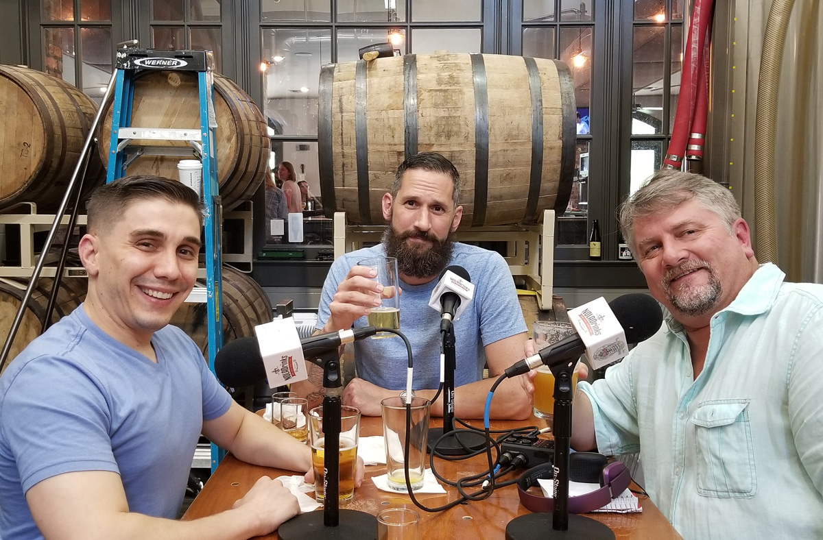 Sal Mortillaro and Matt Horney talking beer at Old Rail Brewing Company on The NOLADrinks Show.