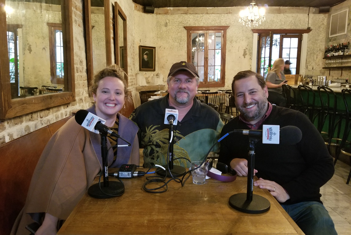 Pictured above from left - Caroline Rosen, executive director of Tales of the Cocktail, Bryan Dias of The NOLADrinks Show, and Neal Bodenheimer, board co-chair of Tales of the Cocktail.