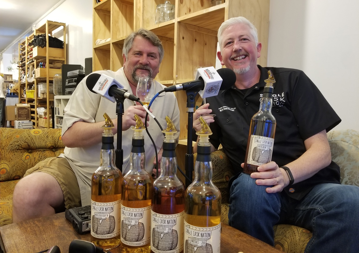 Pictured from left - Bryan Dias of The NOLADrinks Show and Jason Johnstone-Yellin of Under Nation Under Whisky and Single Cask Nation.