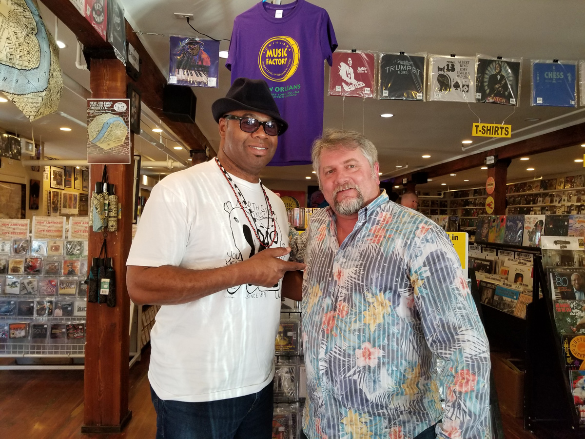 "NOLADrinks Show - 2-25-19 - French Quarter Fest Series - Bruce ""Sunpie"" Barnes of Sunpie and the Louisiana Sunspots and Bryan Dias of The NOLADrinks Show."