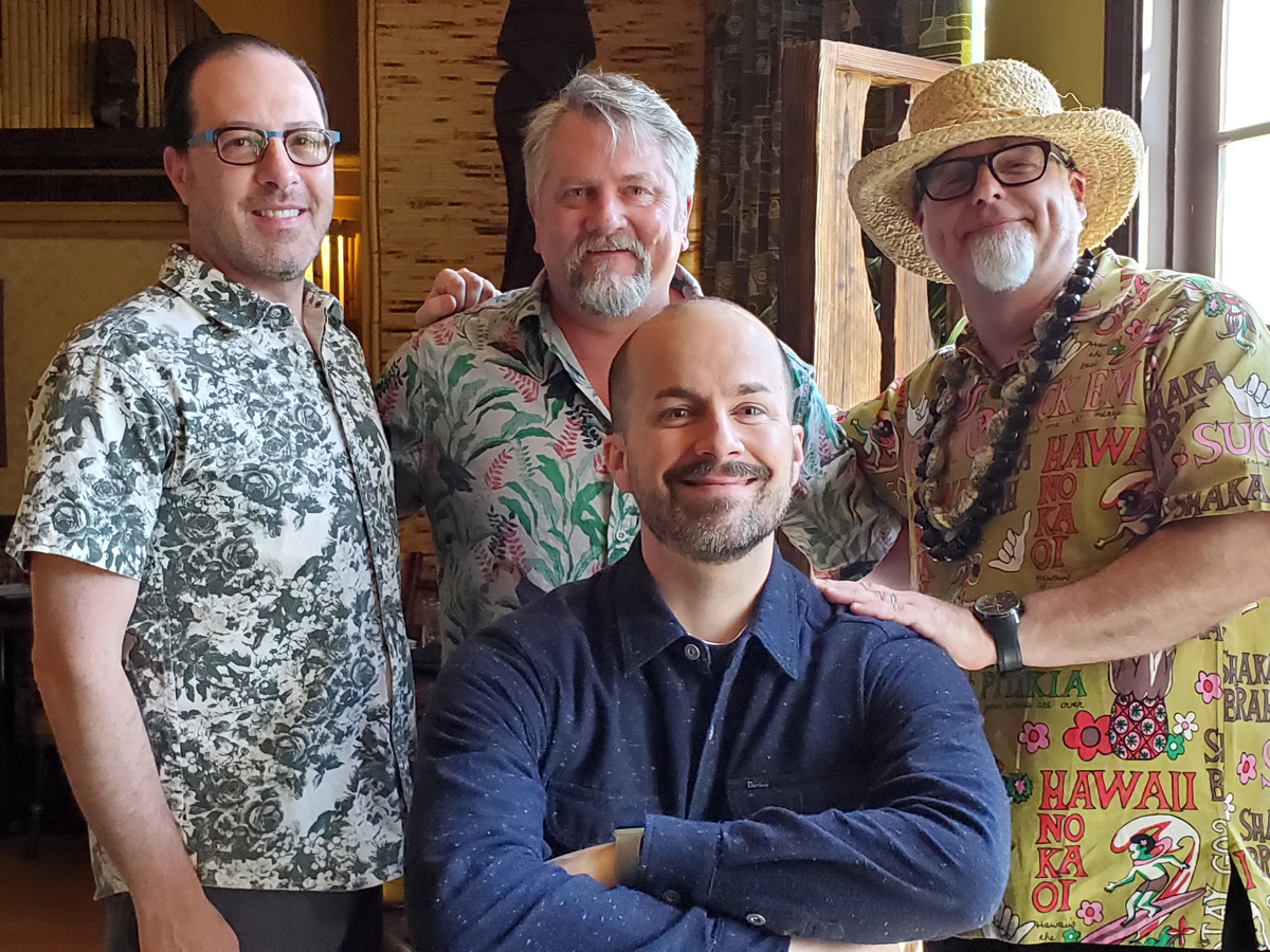 """NOLADrinks Show - 4-15-19 - Vintage Cocktail Books - Greg Boehm of Cocktail Kingdom, Bryan Dias of The NOLADrinks Show, Jeff """"Beachbum"""" Berry, and Jim Meehan of Mixography, Inc."""