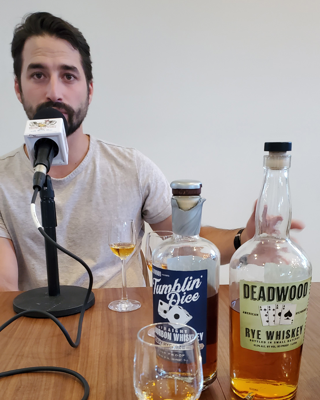 NOLADrinks Show – Liquid Luggage and Spirits Brokering with PM Brokerage – May20Ep3 – Phil Minissale of PM Brokerage along with two Deadwood whiskeys we tasted on Liquid Luggage #3.