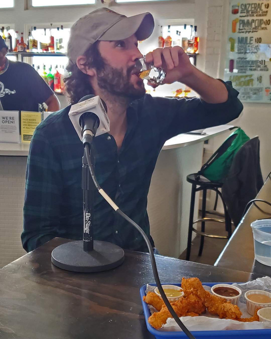 The NOLADrinks Show – St. Roch Market Food Hall – 2021Ep2 – Shannon Bingham (getting warmed up for the interview!) of Emmylou's.