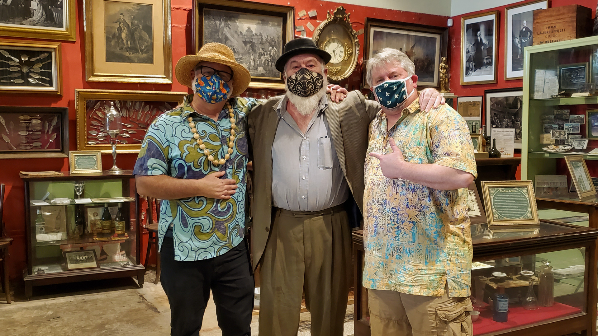 "The NOLADrinks Show – Jeff ""Beachbum"" Berry and Paul Gustings – 2021Ep3 – Jeff ""Beacbhum"" Berry of Latitude 29, Bryan Dias of The NOLADrinks Show, and Paul Gustings."