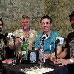 NOLADrinks Show - 3-18-19 - Mezcal. Pictured from left - Phil Minissale of El Buho Mezcal and PM Brokerage, Bryan Dias of The NOLADrinks Show, Evan Meeker of Del Maguey Single Village Mezcal, and Brandon McCullers of Noble Coyote Mezcal.