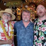 "NOLADrinks Show – 12-2-19 – Sippin' Santa with Jeff ""Beachbum"" Berry – Jeff ""Beachbum Berry of Latitude 29, Bryan Dias of The NOLADrinks Show, Brad Smith of Latitude 29."