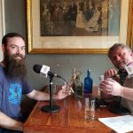 On the NOLADrinks Show - Aaron Selya of Philadelphia Distilling (left) and Bryan Dias of NOLADrinks (right).